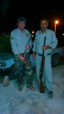 كشف و ضبط دو قبضه اسلحه شكاري غيرمجاز در شهرستان سميرم